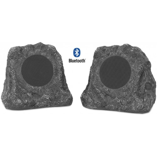 Innovative Technology ITSBO-513P5 Wireless Bluetooth Outdoor Rock Speakers Pair
